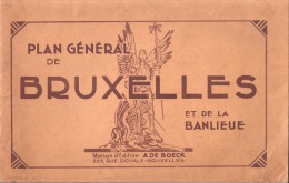 PLAN GENERAL DE BRUXELLES ET DE LA BANLIEUE MAISON A. DE BOECK LISTE DES RUES SANS PLAN !! - Cartes Routières