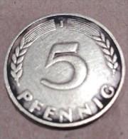 """5 Pfennig """"J"""" 1949 - [ 5] 1945-1949 : Occupation"""