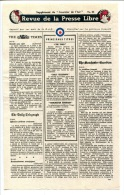 WWII WW2 Tract F.98 Revue De La Presse Libre Supplément Du Courrier De L´Air No.25  FREE SHIPPING WORLDWIDE - Oude Documenten