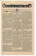 WWII WW2 Tract F.95 Revue De La Presse Libre Supplément Du Courrier De L´Air No.24  FREE SHIPPING WORLDWIDE - Oude Documenten