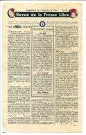 WWII WW2 Tract F.141 Revue De La Presse Libre Supplément Du Courrier De L´Air No.37  FREE SHIPPING WORLDWIDE - Oude Documenten
