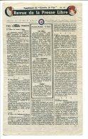 WWII WW2 Tract F.170 Revue De La Presse Libre Supplément Du Courrier De L´Air No.45  FREE SHIPPING WORLDWIDE - Oude Documenten