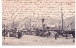 Nice - Le Port (publicité Bonneterie,chemiserie E.Bruneau) 2 Scans - Transport Maritime - Port