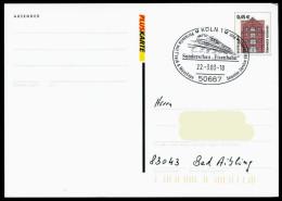 37276) BRD - Ganzsache P 163 - SoST In 50667 KÖLN Vom 22.03.2003 Philatelia, Eisenbahn Zug - [7] West-Duitsland