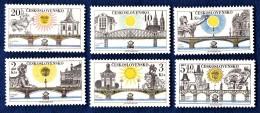 CSSR 1978 Mi. 2445 -50 Yv. 2278 -83 Praga 78 Postfrisch MNH** - Cecoslovacchia