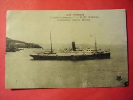 """66 - CPA PORT VENDRES """" PAQUEBOT GENERAL TIRMAN """" COTE VERMEILLE EN 1923 @ - Port Vendres"""