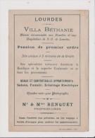 Dépliant Papier - LOURDES Villa Bethanie - - Publicités