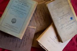 Manuel Marine Nationale Lot 7 Livres Administratifs Utilisés Par La Marine 1941 - Livres, Revues & Catalogues