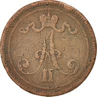 Finlande, Alexandre II, 10 Pennia, 1865, Cuivre, KM:5.1 - Finlande