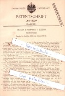Original Patent  - Theiler & Schneeli In Luzern , 1903 , Korsettverschluß , Korsett , Corset !!! - Documents Historiques