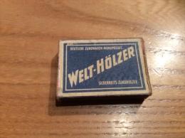 """Ancienne Boîte D'allumettes Allemagne """"WELT-HOLZER N°103"""" Type 1 - Matchboxes"""