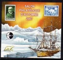 France CNEP N ° 49 Nd XX  Salon Philatélique D´automne à Paris  2007,  Le Bloc  Non Dentelé TB - CNEP
