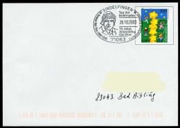 37289) BRD - Ganzsache USo 20 I - SoST In 71063 SINDELFINGEN Vom 26.10.2003 Tag Der Briefmarke, 75J. O-W-Atlantikflug - BRD