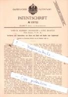 Original Patent  - Samuel Herman Thurston In Long Branch , 1898 , Ueberziehen Von Eisen !!! - Verenigde Staten
