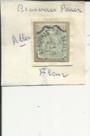 1 Timbre _Tampon Convoyeur - _Beauvais_a_Paris _Blanc 5 Cts _Aller - Marcophily (detached Stamps)