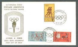 1964 CYPRUS OLYMPIC GAMES TOKYO FDC - Chypre (République)