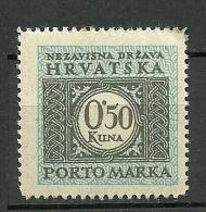 KROATIA Kroatien 1943 Portomarke Postage Due Michel 17 MNH - Kroatië