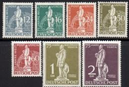 75 Jahre Weltpostverein 1949 Berlin 35/41 ** 820€ Post-Minister Heinrich Von Stephan UPU Set Of Westberlin Germany - Ongebruikt
