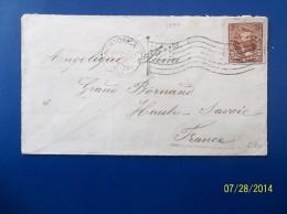 USA: 1897 Cover To France (#JA1) - 1847-99 Emissions Générales