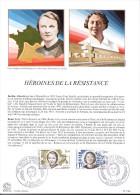 """FRANCE 1983 : Encart 1er Jour """" HEROINES DE LA RESISTANCE : RENEE LEVY BERTHE ALBRECHT """" N° YT 2293 2294. Parf état. FDC - Guerre Mondiale (Seconde)"""