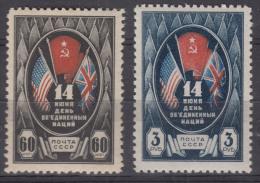 Russia SSSR 1944 Mi#909-910 Mint Never Hinged