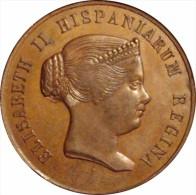 ESPAÑA. ISABEL II. MEDALLA HISPALENSES FAUSTUM. SEVILLA 1.862. ESPAGNE. SPAIN - Monarquía/ Nobleza