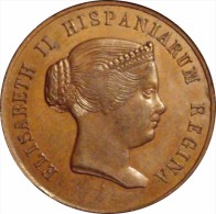 ESPAÑA. ISABEL II. MEDALLA HISPALENSES FAUSTUM. SEVILLA 1.862. ESPAGNE. SPAIN - Royal/Of Nobility