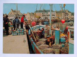 9179   CPM SAINT VAAST LA HOUGUE  : Débarquement Du Poisson Sur Le Port 1979  ACHAT DIRECT !! - Saint Vaast La Hougue