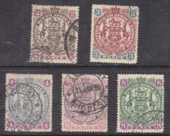 Southern Rhodesia: 1897, 2d,3d,4d,6d,8,d,  Die II,used, - Rhodésie Du Sud (...-1964)
