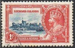 Leeward Islands SG88 1935 Silver Jubilee 1d Fine Used - Leeward  Islands