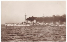 S.M.S. 'Moltke' Imperial Germany Navy Battle Cruiser, C1910s Vintage Real Photo Postcard - Krieg