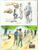LA PETANQUE, Feuillet Spécial Issu Du Livret Paru En 2003