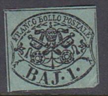 Italian States Papal States 1852 Baj 1 Mint - Papal States
