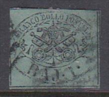 Italian States Papal States 1852 Baj 1 Dark Green Used - Papal States