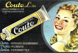 COUTO Pasta Medicinal - PUBLICIDADE - ADVERTISING - Duplo Mata-borrão Blotter Buvard - Porto Portugal - C