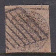 Italian States Papal States 1852 Baj 4 Brown Grey Used - Papal States