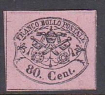 Italian States Papal States 1867 80 Centesimi Mint - Papal States