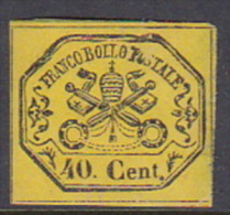 Italian States Papal States 1867 40 Centesimi Mint - Papal States