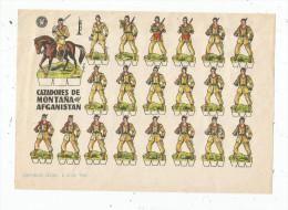 Planche Découpis, 1960 , CAZADORES DE MONTANA DEL AFGANISTAN , Militaria, Militaires , Musique , Frais Fr : 1.55€ - Découpis