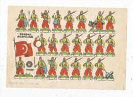 Planche Découpis, 1960 , TROPAS EGIPCIAS , Militaria, Militaires , Musique , Chien , Frais Fr : 1.55€ - Découpis