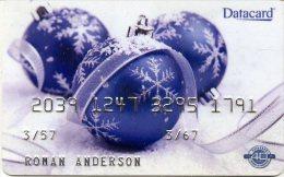 @+ Carte Démonstration Datacard : Boules De Noel - Saisons
