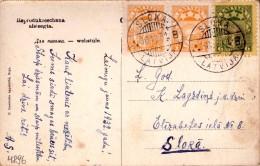LATVIA-LETTLAND-STAMPS-POSTCARD-CANCEL-SLOKA-B-30.12.1931. - Latvia