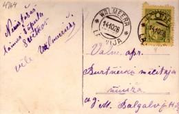 LATVIA-LETTLAND-STAMPS-POSTCARD-CANCEL-WALMEERA-14.10.1926. - Letonia
