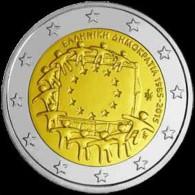 Griekenland  2015    2 Euro Commemo 30 Jaar Europese Vlag (gezamelijke Munt)      UNC Uit De Rol  UNC Du Rouleaux !! - Grecia