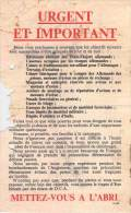 WWII WW2 Propaganda Leaflet Tract F.142 URGENT ET IMPORTANT,  FREE SHIPPING WORLDWIDE - Oude Documenten