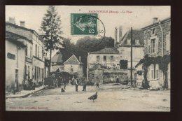 55 - HAIRONVILLE - LA PLACE - CACHET DE L´EDITEUR ET AUTOGRAPHE AU VERSO : QUINCAILLERIE EUGENE LECLER - France