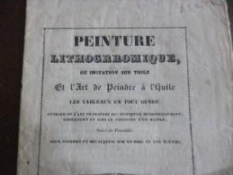 Plaquette 1834 Desloges Paris Peinture Lithocromique Ou Imitation Sur Toile Et L'art De Peindre à L'huile. 14 Pages - Libros, Revistas, Cómics