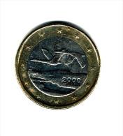 FINLANDE  2000  / Une Pièce D 1 EURO / CIRCULEE /Bon Etat (cote 2014 Neuve = 15 Euros) - Finnland