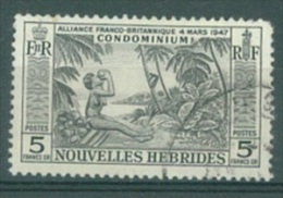 NOUVELLES HEBRIDES - 1957 - USED/OBLIT.  - Yv 185 Mi 193 - Lot 13348 - Légende Française