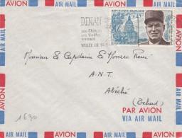 ALPHONSE JUIN   Timbre SEUL Sur LETTRE De DINAN  1970 Pour Un Capitaine A Abeche TCHAD - 1961-....